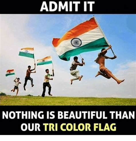 It Is What It Is Meme - admit it nothing is beautiful than our tri color flag