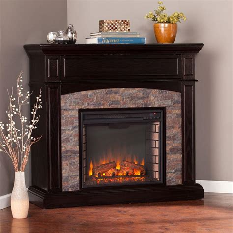 Electric Faux Fireplace by Southern Enterprises Newburgh 45 5 In W Faux Corner