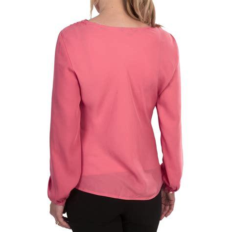 drape neck blouse lands end georgette drape neck blouse for women