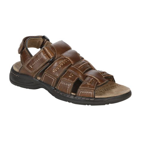 sears mens sandals gbx mens tahiti brown clothing shoes jewelry
