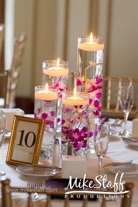centerpieces with candles gorgeous cylinder vase centerpieces with floating candles