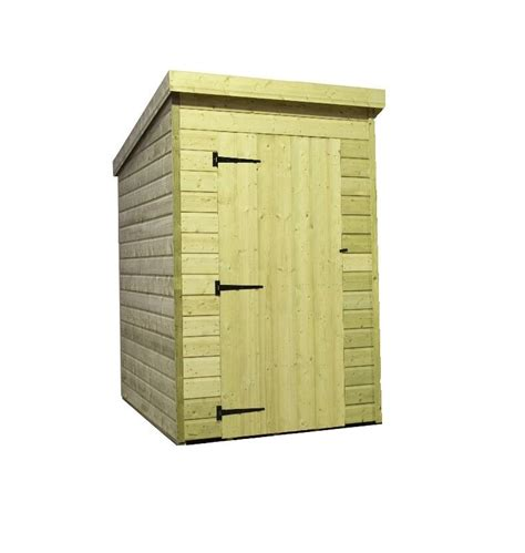 garden shed  shiplap pent roof wooden tanalised