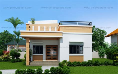 great small house plans maryanne one storey with roof deck shd 2015025 pinoy