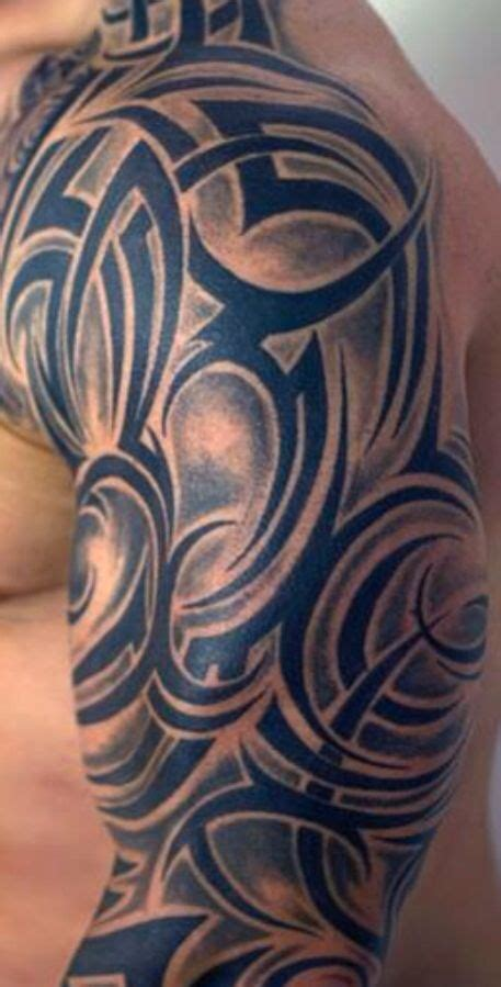 shaded tribal tattoos tribal shading tattoos and tatting