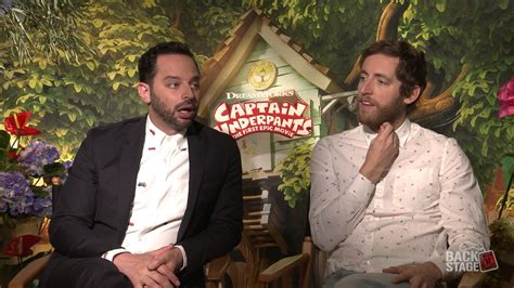 nick kroll captain underpants backstage with thomas middleditch nick kroll for captain