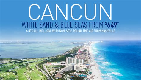 nashville to cancun all inclusive vacation packages the best deals from vacation express