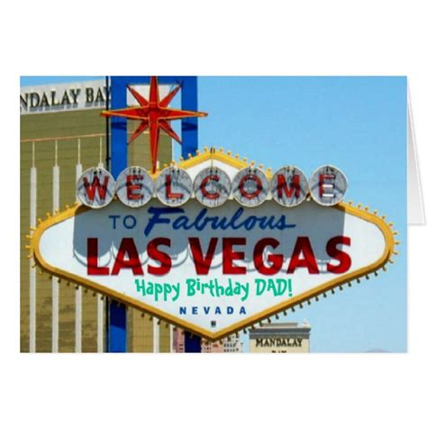 Las Vegas Birthday Card Las Vegas Happy Birthday Dad Card Zazzle