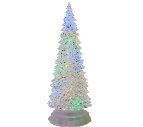 12 3 4 quot led color changing acrylic christmas tree by