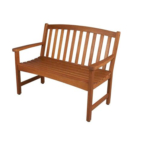 home depot wood bench hton bay adelaide 2 seater outdoor bench ktob 1194 hdp