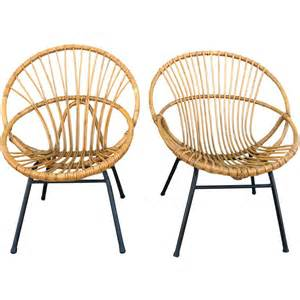 set of 2 50 s bamboo chairs at 1stdibs