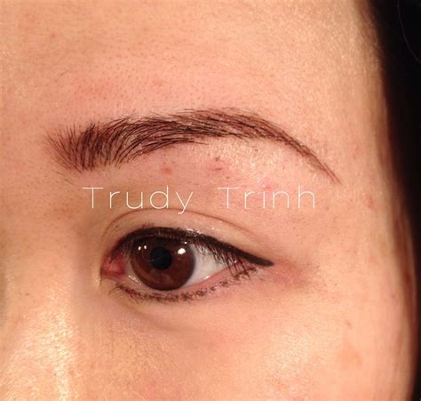 tattoo liner brow 21 best images about semi permanent eyebrow hairstroke