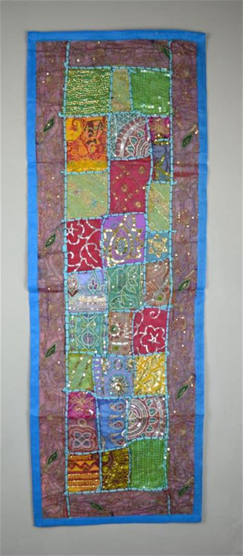 Patchwork Wall Hanging - blue patchwork wall hanging dilliway dilliway