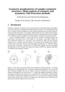 (PDF) Geometric morphometrics of complex symmetric
