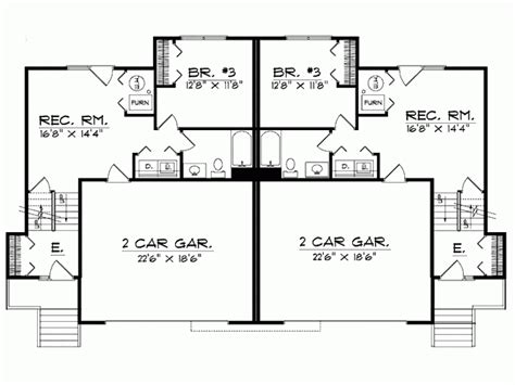 duplex house plans with garage in the middle duplex plans with garage in middle home desain 2018