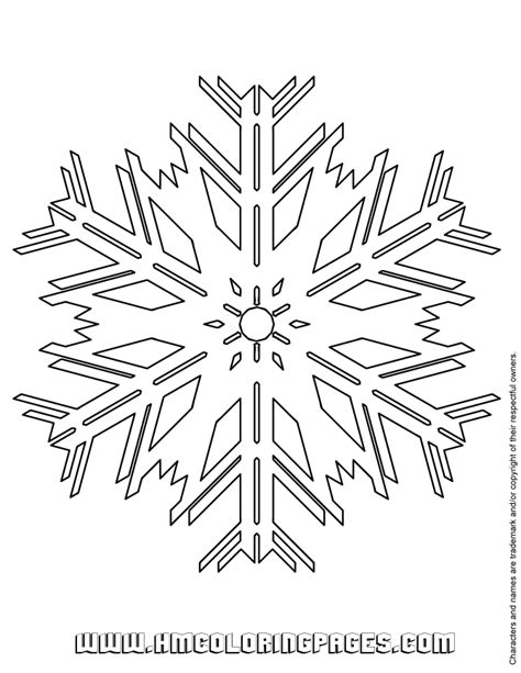 snowflake patterns coloring pages free coloring pages of snowflake pattern