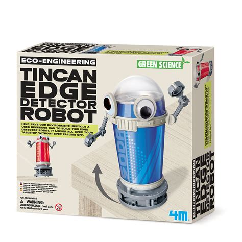 tin can robot 4m green science tin can edge detector robot gt educatief