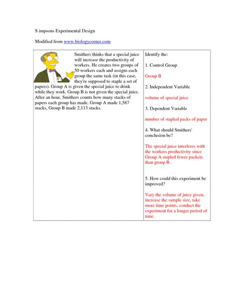 experimental design worksheet scientific method worksheet experimental variables worksheet mytourvn