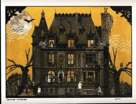 house prints haunted house print