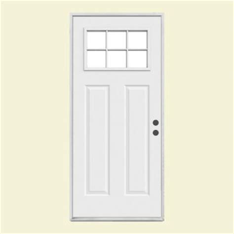 Home Depot Steel Exterior Doors 36 In X 80 In Craftsman 6 Lite Primed Steel Prehung Front Door Thdjw182500101 The Home Depot
