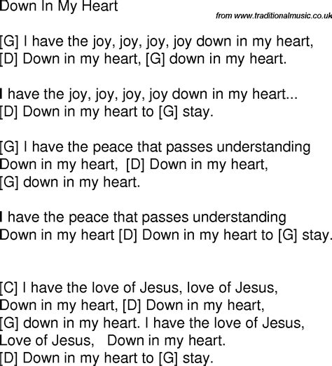 tattooed heart lyrics chords i got joy joy down in my heart images