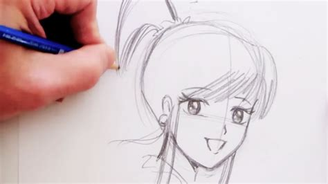 how to draw a simple anime girl step by step anime easy draw anime girl pencil art drawing