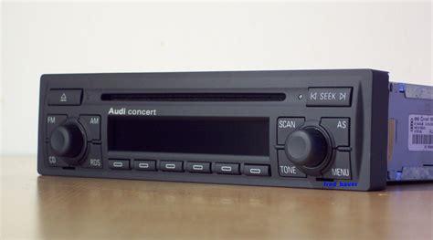 Autoradio Concert Audi by Remplacer Autoradio Chorus 1 Par Concert 2 A3 8l 1996