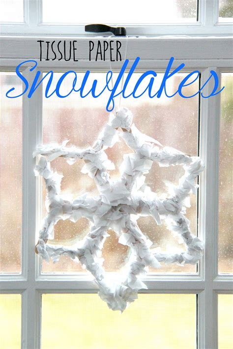 How To Make Tissue Paper Snowflakes - how to make tissue paper snowflakes smashed peas carrots