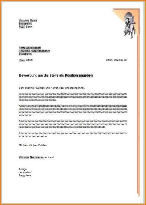 Offizieller Briefkopf Muster 4 Briefkopf Bewerbung Questionnaire Templated