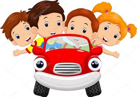 Kinder Die Auto Fahren by Kinder Fahren Auto Stockvektor 169 Irwanjos2 88024834