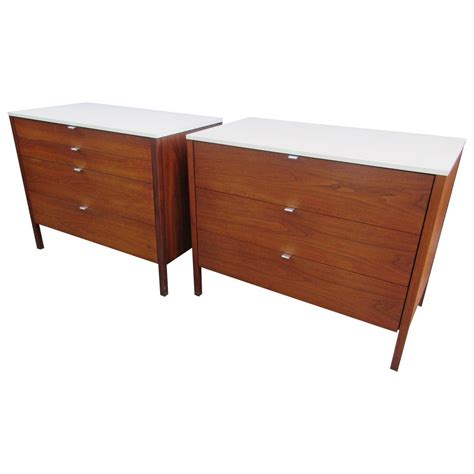florence knoll for knoll associates walnut chests for sale