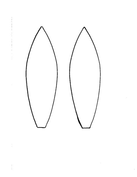 Bunny Ears Headband Template search results for free ear template