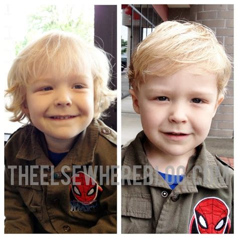 hairstyles for thin hair before and after toddler boy hair cut before after 3 year old hair cut