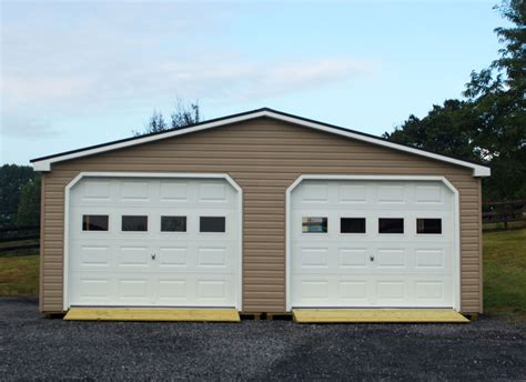 how wide is a two car garage 24x30 modular 2 car garage double wide garage byler barns