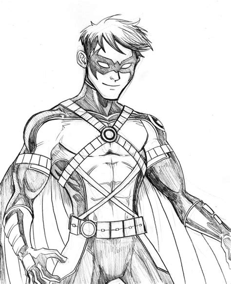 robin superhero coloring page robin superhero drawing hood google search batman