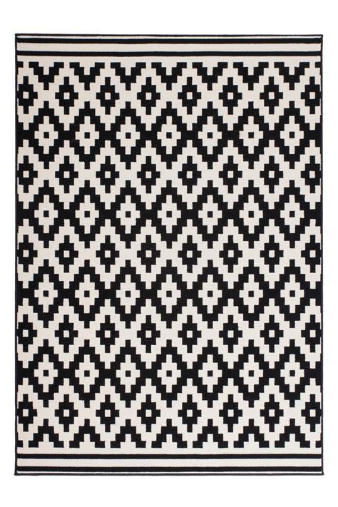 teppiche weiss schwarz teppich flachflor arabesque scandic design modern teppiche