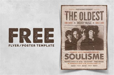 adobe photoshop poster templates free vintage poster template dealjumbo discounted