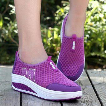 Lawrensia Lawrensia Wedges lalang new height increasing shoes casual swing