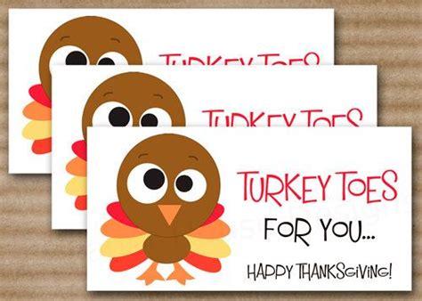 printable turkey toes thanksgiving treat bag topper thanksgiving tag turkey