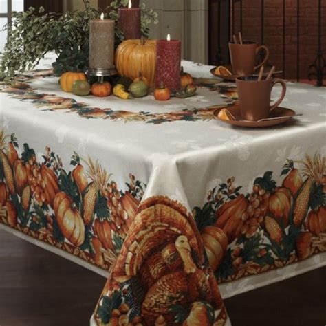 Thanksgiving Table Linens by Harvest Splendor Thanksgiving Tablecloth Findgift
