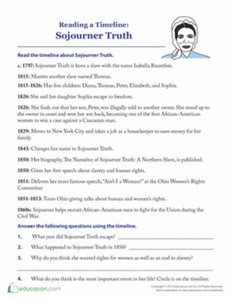 biography vs autobiography lesson plan sojourner truth timeline worksheet education com