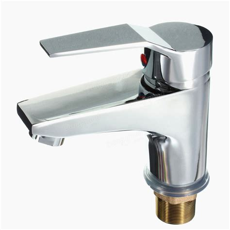 Chrome Basin Cold Hot Mixer Water Tap Bathroom Sink Faucet Water Kitchen Sink