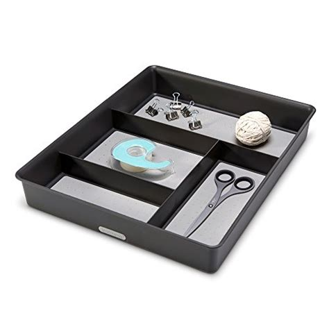 madesmart junk drawer organizer madesmart gadget tray drawer organizer granite import