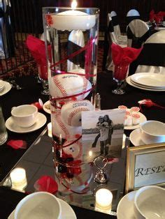 baseball wedding centerpieces baseball centerpiece on bar mitzvah baseball
