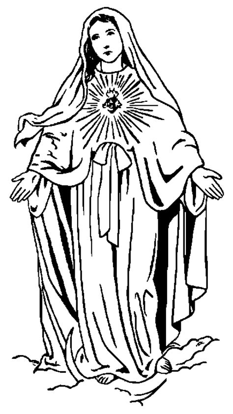 coloring page of virgin mary blessed virgin mary coloring pages coloring pages