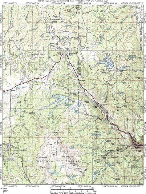 railroad map of colorado ute pass colorado