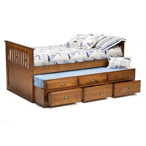 captain bed with trundle bernards logan twin captain s bed with trundle drawers wayside furniture captain