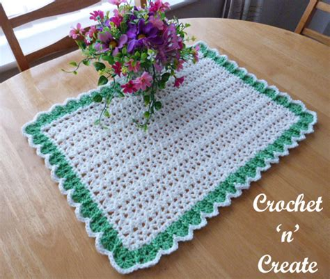 Crochet Table Mats - crochet dining table mat free crochet pattern crochet n