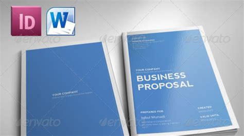 indesign indd  template clean proposal youtube
