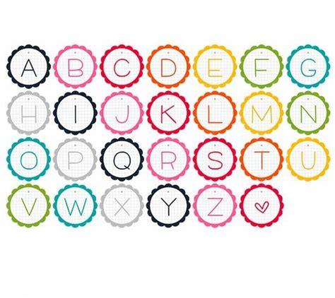 printable alphabet name plates printable alphabet garland lalaloopsy party ideas