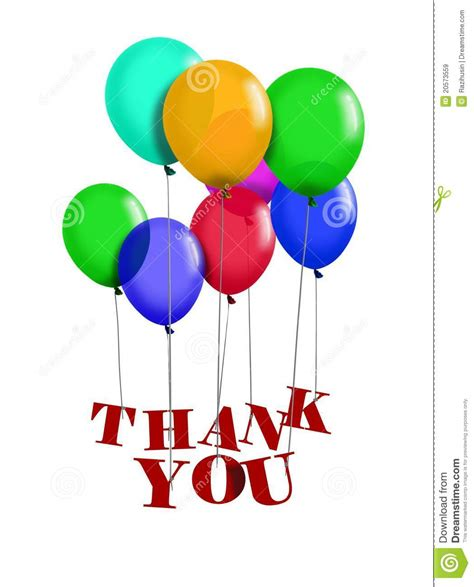 Thank You Letter Balloons Thank You Balloon Royalty Free Stock Images Image 20573559